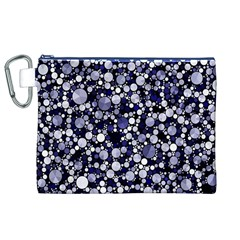 Lavender Cheetah Bling Abstract  Canvas Cosmetic Bag (XL)