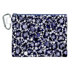 Lavender Cheetah Bling Abstract  Canvas Cosmetic Bag (XXL)