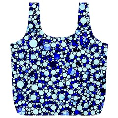 Bright Blue Cheetah Bling Abstract  Reusable Bag (XL)