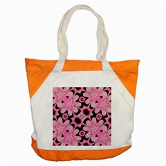 Powder Pink Black Abstract  Accent Tote Bag
