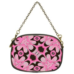 Powder Pink Black Abstract  Chain Purse (one Side)