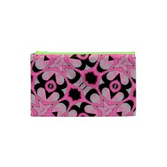 Powder Pink Black Abstract  Cosmetic Bag (xs)