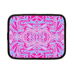 Trippy Florescent Pink Blue Abstract  Netbook Sleeve (small)