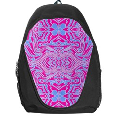 Trippy Florescent Pink Blue Abstract  Backpack Bag
