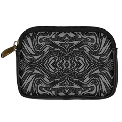Trippy Black&white Abstract  Digital Camera Leather Case