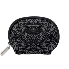 Trippy Black&white Abstract  Accessory Pouch (Small)