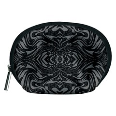 Trippy Black&white Abstract  Accessory Pouch (medium)