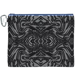 Trippy Black&white Abstract  Canvas Cosmetic Bag (XXXL)