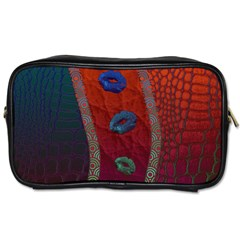 Funky Florescent Sassy Lips  Travel Toiletry Bag (one Side)