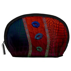 Funky Florescent Sassy Lips  Accessory Pouch (large)