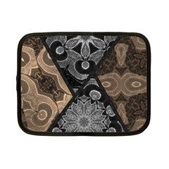 Crazy Beautiful Black Brown Abstract  Netbook Sleeve (small)