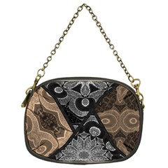 Crazy Beautiful Black Brown Abstract  Chain Purse (one Side)