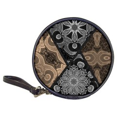 Crazy Beautiful Black Brown Abstract  Cd Wallet