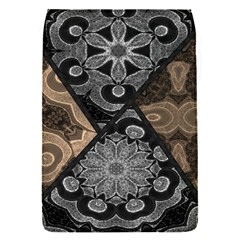 Crazy Beautiful Black Brown Abstract  Removable Flap Cover (s)