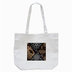 Crazy Beautiful Black Brown Abstract  Tote Bag (White)
