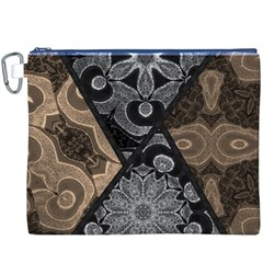 Crazy Beautiful Black Brown Abstract  Canvas Cosmetic Bag (xxxl)