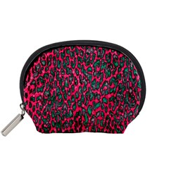 Florescent Pink Leopard Grunge  Accessory Pouch (small)