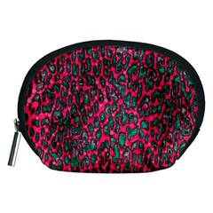 Florescent Pink Leopard Grunge  Accessory Pouch (Medium)