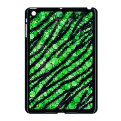 Florescent Green Tiger Bling Pattern  Apple Ipad Mini Case (black)