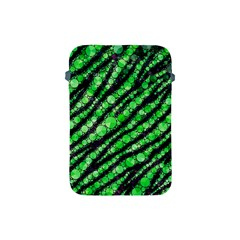 Florescent Green Tiger Bling Pattern  Apple Ipad Mini Protective Sleeve