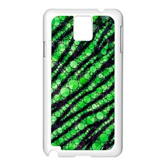 Florescent Green Tiger Bling Pattern  Samsung Galaxy Note 3 N9005 Case (white)