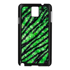 Florescent Green Tiger Bling Pattern  Samsung Galaxy Note 3 N9005 Case (black)