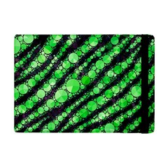 Florescent Green Tiger Bling Pattern  Apple Ipad Mini 2 Flip Case