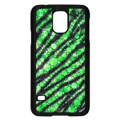 Florescent Green Tiger Bling Pattern  Samsung Galaxy S5 Case (Black)