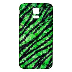 Florescent Green Tiger Bling Pattern  Samsung Galaxy S5 Back Case (White)