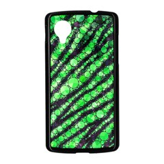 Florescent Green Tiger Bling Pattern  Google Nexus 5 Case (Black)