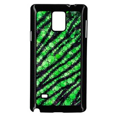 Florescent Green Tiger Bling Pattern  Samsung Galaxy Note 4 Case (black)