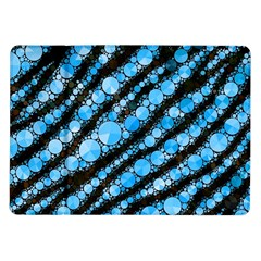 Bright Blue Tiger Bling Pattern  Samsung Galaxy Tab 10 1  P7500 Flip Case