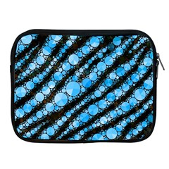 Bright Blue Tiger Bling Pattern  Apple Ipad Zippered Sleeve