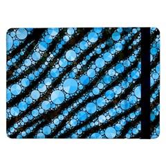 Bright Blue Tiger Bling Pattern  Samsung Galaxy Tab Pro 12 2  Flip Case