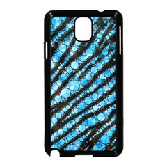 Bright Blue Tiger Bling Pattern  Samsung Galaxy Note 3 Neo Hardshell Case (Black)