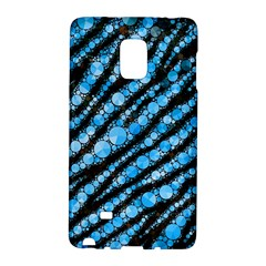 Bright Blue Tiger Bling Pattern  Samsung Galaxy Note Edge Hardshell Case