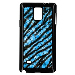Bright Blue Tiger Bling Pattern  Samsung Galaxy Note 4 Case (black)