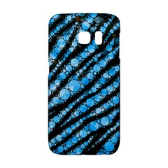 Bright Blue Tiger Bling Pattern  Samsung Galaxy S6 Edge Hardshell Case