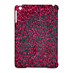 Florescent Pink Leopard Grunge  Apple Ipad Mini Hardshell Case (compatible With Smart Cover)