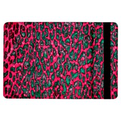 Florescent Pink Leopard Grunge  Apple Ipad Air Flip Case