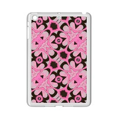 Powder Pink Black Abstract  Apple iPad Mini 2 Case (White)