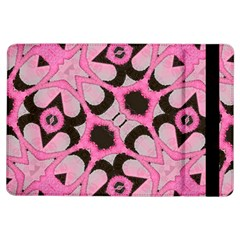 Powder Pink Black Abstract  Apple iPad Air Flip Case