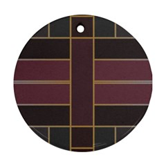 Vertical And Horizontal Rectangles Ornament (round)