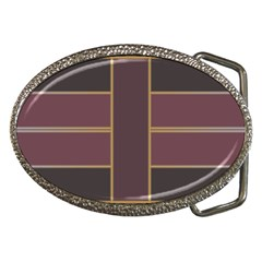 Vertical And Horizontal Rectangles Belt Buckle