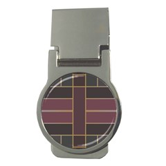 Vertical And Horizontal Rectangles Money Clip (round)