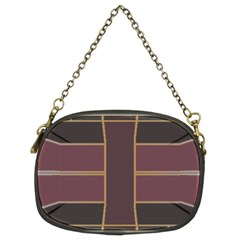 Vertical And Horizontal Rectangles Chain Purse (two Sides)