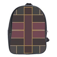 Vertical And Horizontal Rectangles School Bag (large)