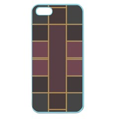 Vertical And Horizontal Rectangles Apple Seamless Iphone 5 Case (color)