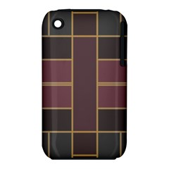 Vertical And Horizontal Rectangles Apple Iphone 3g/3gs Hardshell Case (pc+silicone)