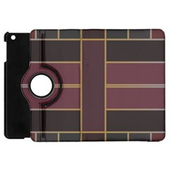 Vertical And Horizontal Rectangles Apple Ipad Mini Flip 360 Case